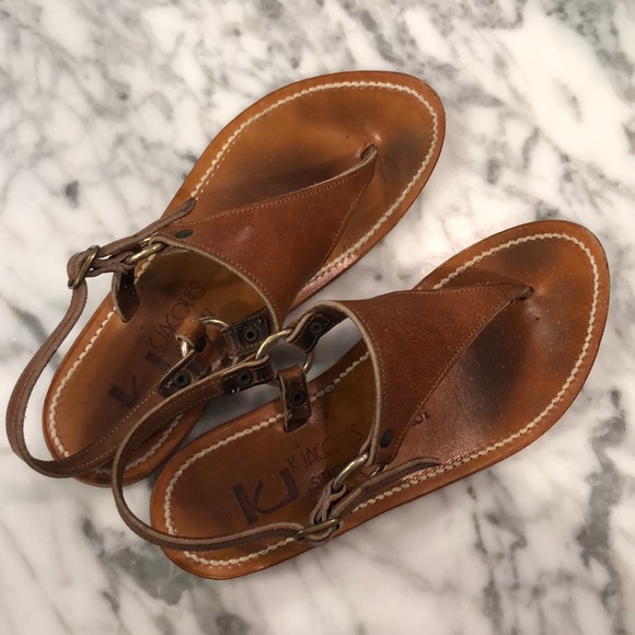 5cfd230d826 kjacques Shoes - K Jacques Cyrus Broad Thong Sandals brown leather